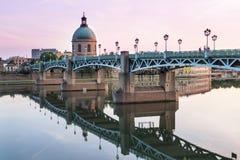 Toulouse på solnedgången arkivbild