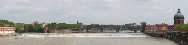 Toulouse panoramic view Royalty Free Stock Images
