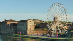 Toulouse Panoramic View of the Garonne River stock footage