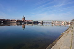 Toulouse by the river Royalty Free Stock Photos