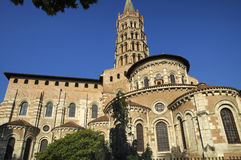 Toulouse: Saint-Sernin. Toulouse (Haute-Garonne, Midi-Pyrenees, France): the historic church of Saint-Sernin, exterior Stock Photography
