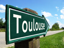 Toulouse signpost. Along a rural road royalty free stock photo