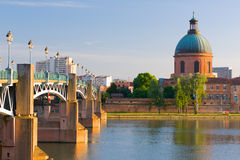 Toulouse in a summer evening Royalty Free Stock Photography