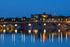Toulouse at a summer night Royalty Free Stock Photos