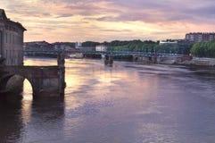 Toulouse, zachód słońca fotografia stock