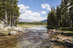 Toulumne-Fluss in Yosemite Lizenzfreie Stockfotos