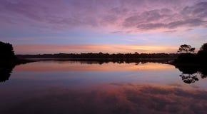 Toulvern lake in Morbihan coast Stock Photo