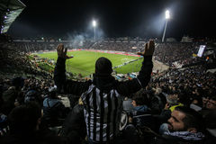 Toumba体育场的看法 免版税库存图片