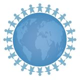 Social network of Peace image  - People all over the world vector illustration