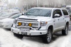 Toundra de Toyota en ville de Rostov photographie stock libre de droits