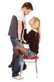toung пар сексуальное Стоковая Фотография RF