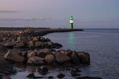 Toupeira na costa de mar Báltico em Warnemuende Fotos de Stock