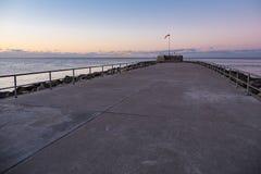 Toupeira na costa de mar Báltico em Warnemuende Foto de Stock