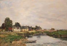 Touques d'Eugène Boudin, port de le vieux un basse de marée, impression photo libre de droits