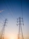 Tour à haute tension de l'électricité Photographie stock libre de droits