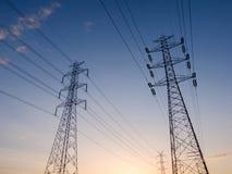 Tour à haute tension de l'électricité Images libres de droits