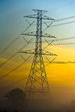 Tour électrique à haute tension Image stock