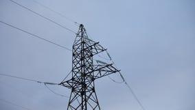 Tour électrique avec des câbles sur le fond gris de l'électricité Images libres de droits