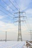 Tour électrique dans l'hiver Images stock