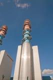 Tour électrique de central de générateur Photographie stock
