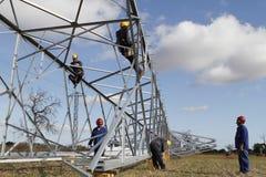 Tour électrique de tension élevée en Majorque Image libre de droits