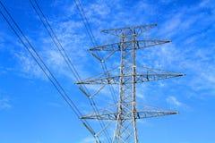 Tour électrique en acier de transmission Image libre de droits
