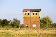 Tour abandonnée de montre Photographie stock libre de droits