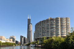 Tour along the Chicago River, Illinois Royalty Free Stock Images