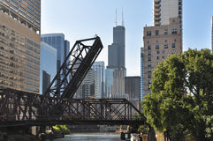 Tour along the Chicago River, Illinois Stock Photography
