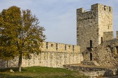 Tour antique dans la forteresse de Belgrade serbia images stock