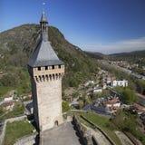 Tour Arget. Of the Chateau de Foix, Occitanie, France royalty free stock photography