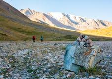 Tour around the mountain trails royalty free stock photos