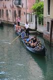 Gondola tour. Tour around venice in a typical boat called gondola Royalty Free Stock Photography