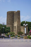 Tour Bakou, Azerbaïdjan de siècle d'UNESCO-12th première Images libres de droits