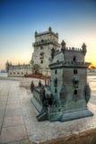 Tour Belem HDR de Lisbonne Images stock