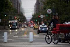 Tour bike in San Francisco. stock photos