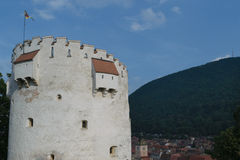 Tour blanche, Brasov, la Transylvanie, Roumanie Photo stock