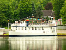 Tour boat. Boat used for sightseeing  tours of the adirondack lakes in old forge,ny Royalty Free Stock Photography