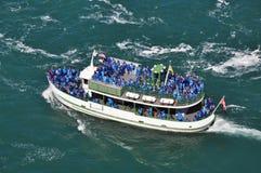 Tour Boat. At Niagara Falls, USA Stock Photo
