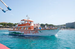 Tour boat Atalaya II on route Stock Image