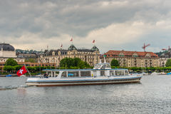 Tour boat Bachtel on the Lake Zurich Stock Photo