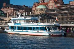 Tour boat Hanse Star. Hamburg Germany - December 16. 2017: Tour boat Hanse Star in port of Hamburg Stock Image