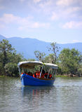 Tour boat in Kerkini lake ,Greece Royalty Free Stock Images