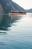 Tour boat in Konigssee lake Stock Image