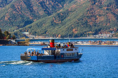 Tour Boat at Lake Kawaguchiko Royalty Free Stock Image