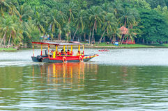 Tour boat on lake Shah Alam Malaysia Royalty Free Stock Image