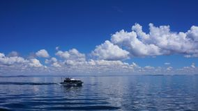 Tour Boat on Lake Titicaca royalty free stock photography