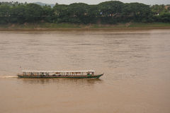 Tour boat. On Mekong river , Thailand Stock Images