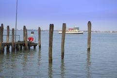 Tour boat pier,Italy Stock Photos