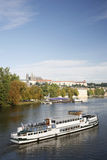 Tour Boat in Prague Stock Image